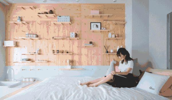 95后的26㎡单身公寓,迷你户型家具全藏床底下!